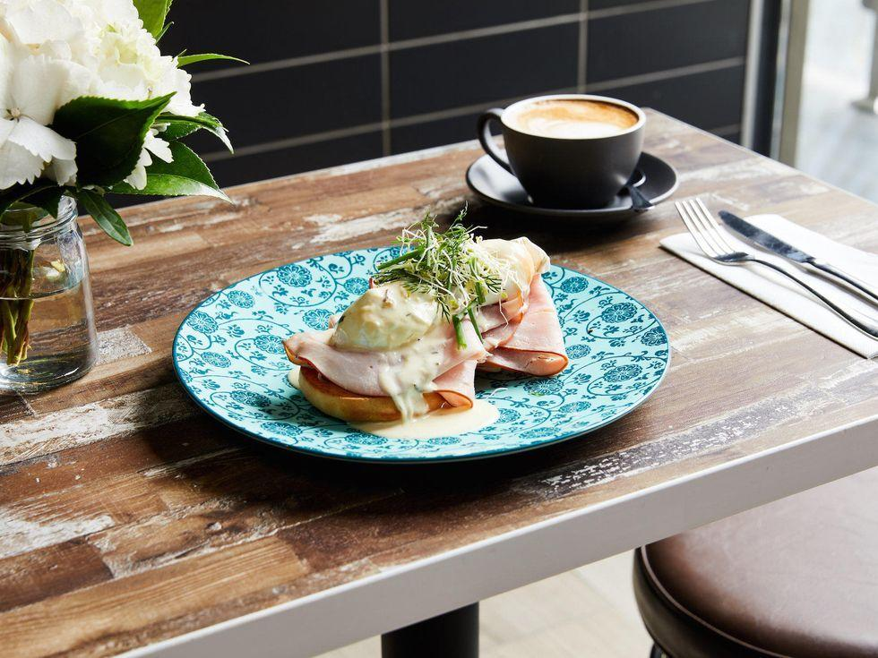 Eggs benedict at Brady Hotels Central Melbourne