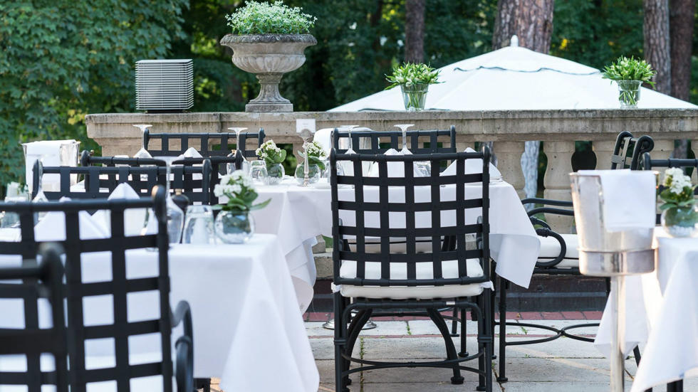 Terrace at Schlosshotel Berlin by Patrick Hellmann