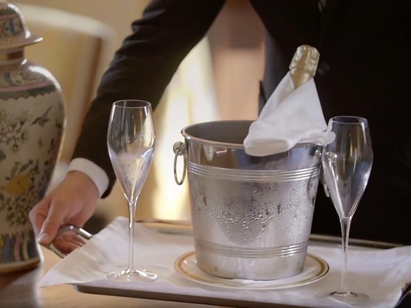 Room service at Castello dal Pozzo in Oleggio Castello, Italy