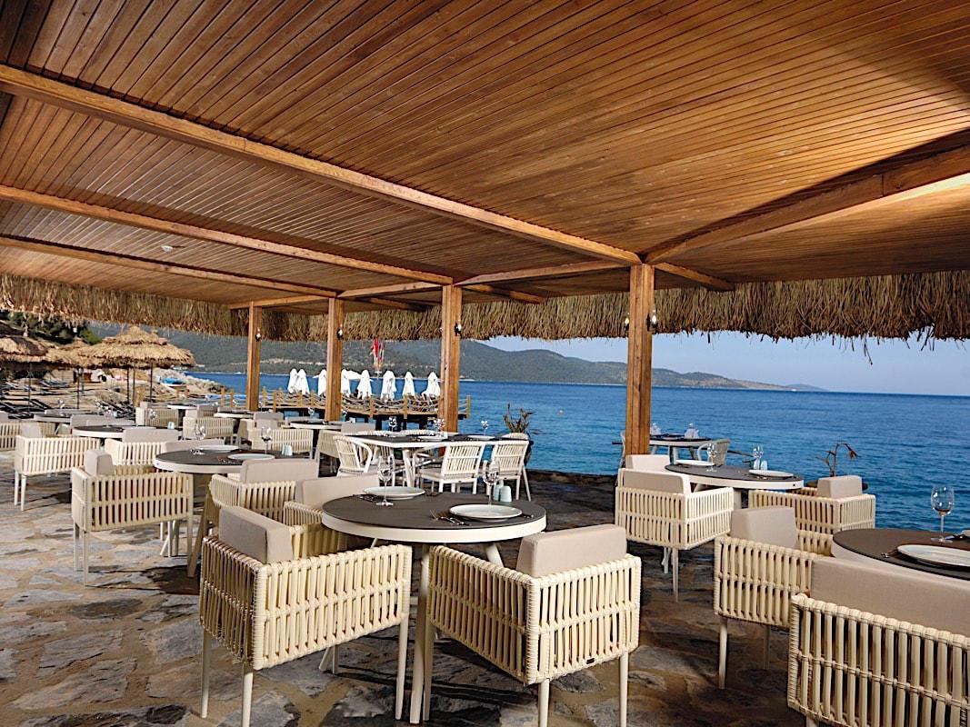 The Beach Snack at Sarpedor Boutique Beach Hotel in Bodrum, Turkey