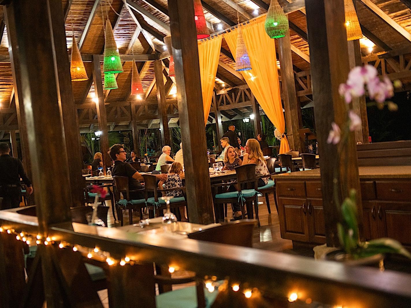 Área de descanso del restaurante