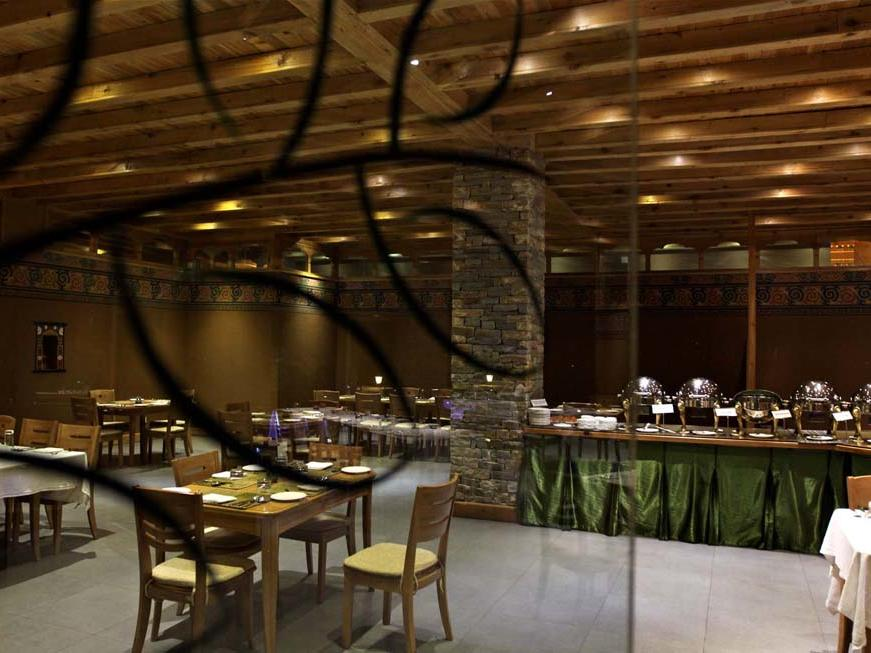 Dining at Naksel Boutique Hotel Spa in Paro. Kingdom of Bhutan