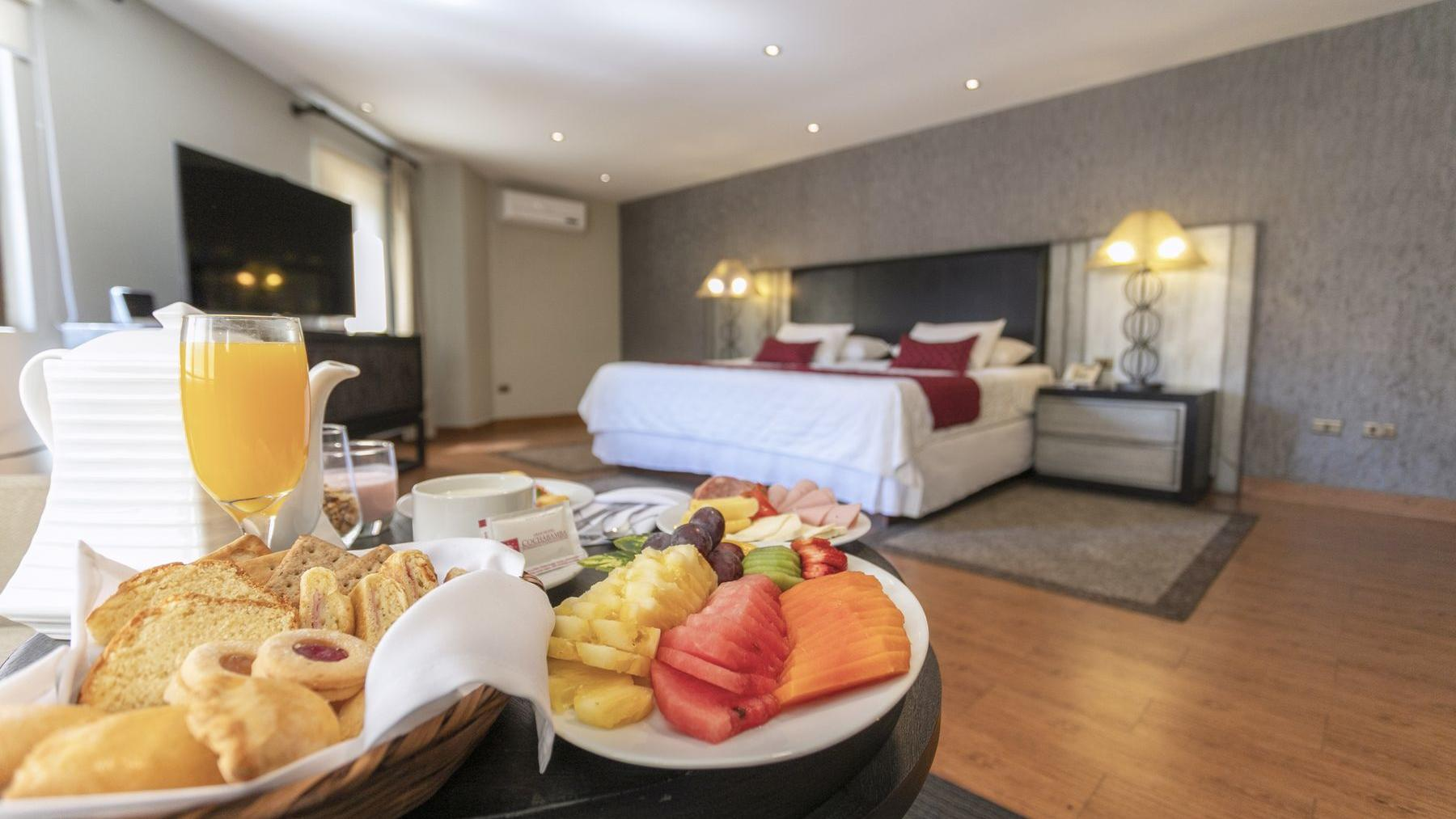 King Bed room with Breakfast