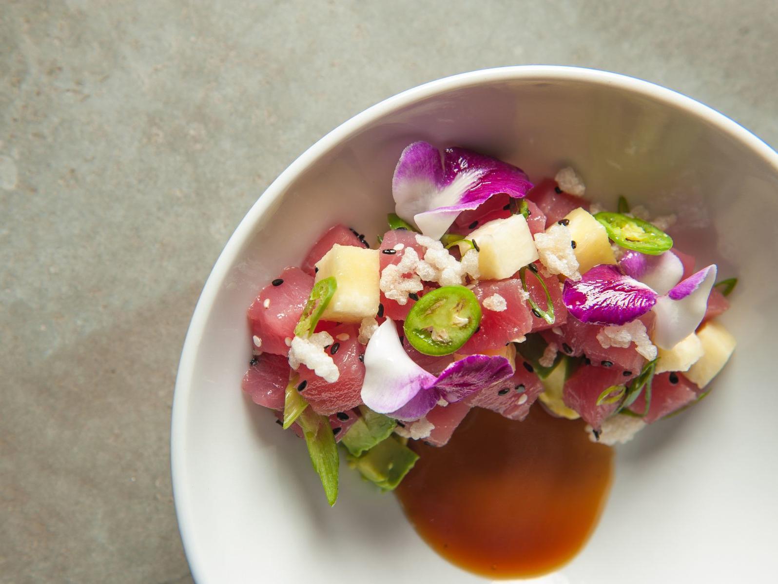 fancy tuna dish