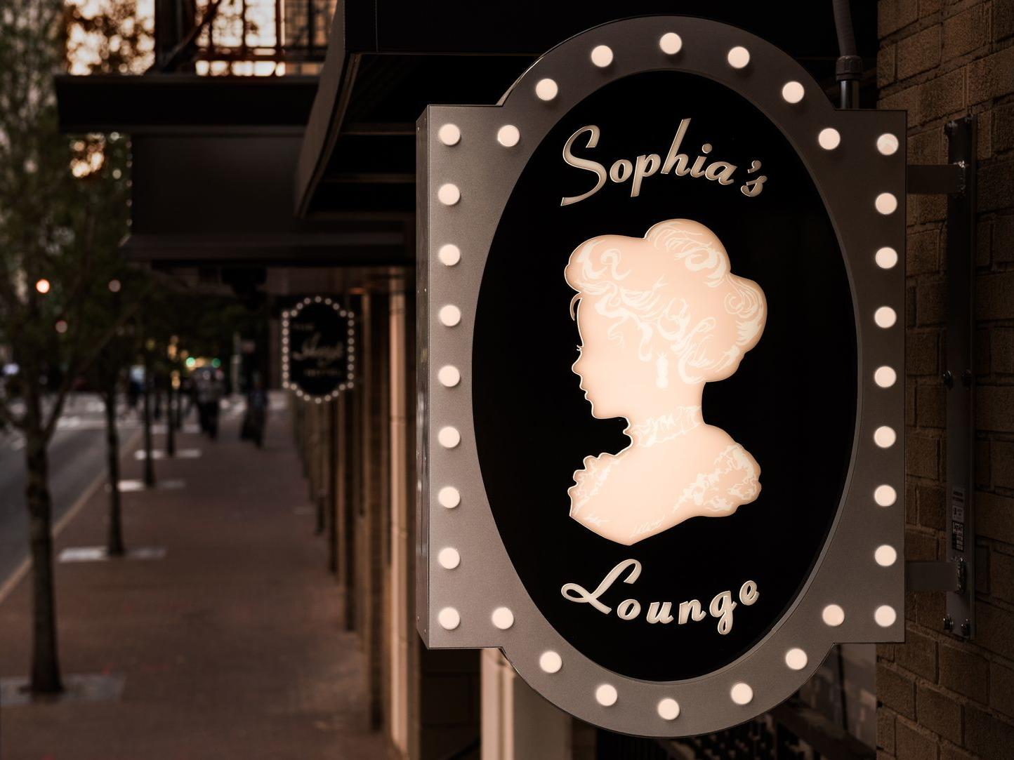 sign for sophias lounge