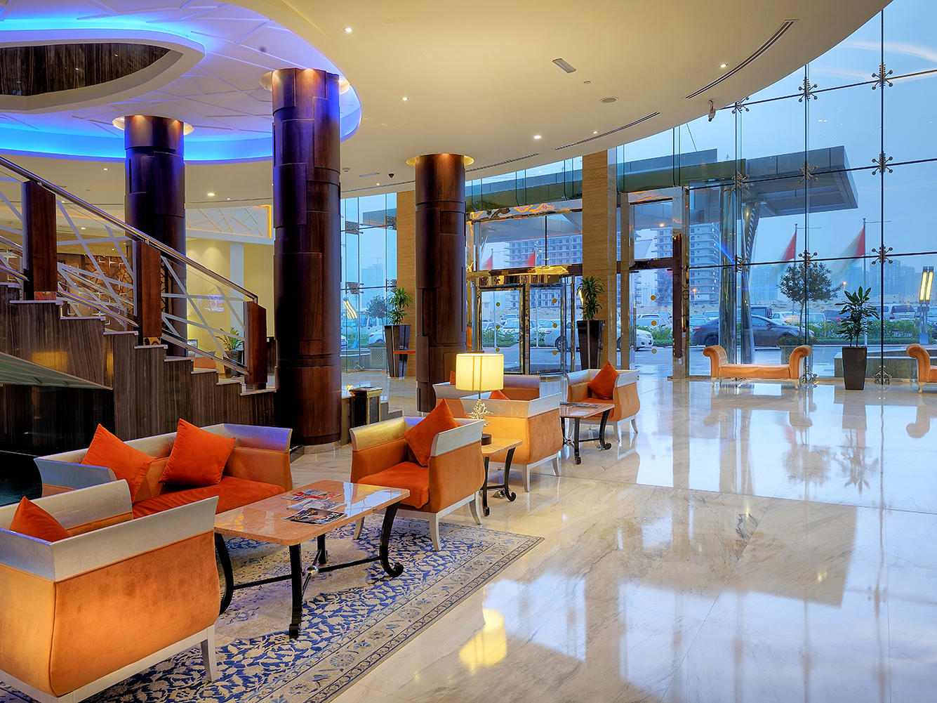 Lobby at Ghaya Grand Hotel Dubai