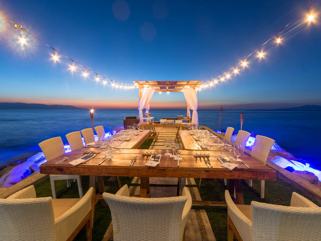 Restaurant Sitting at the Beach