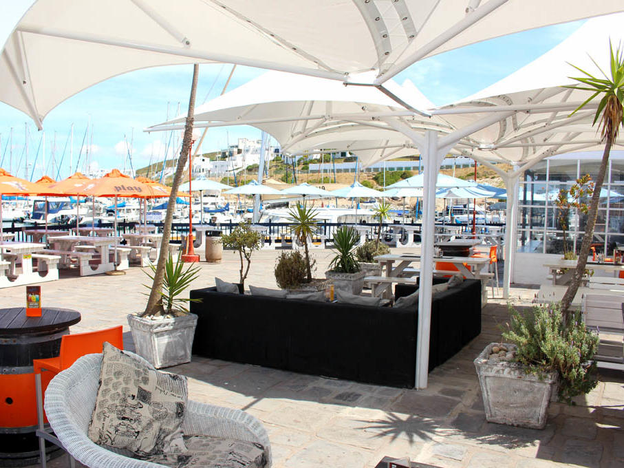 Dockside Cafe and Lounge in Club Mykonos