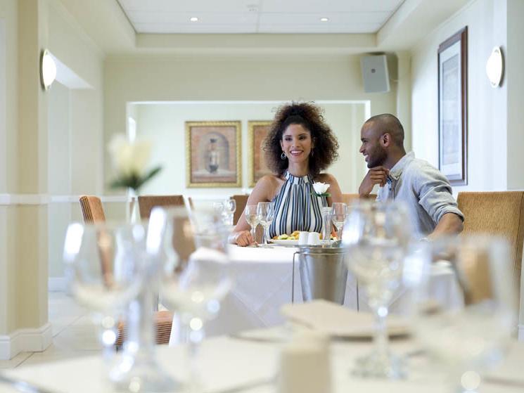 The Black pearl Restaurant in Club Mykonos