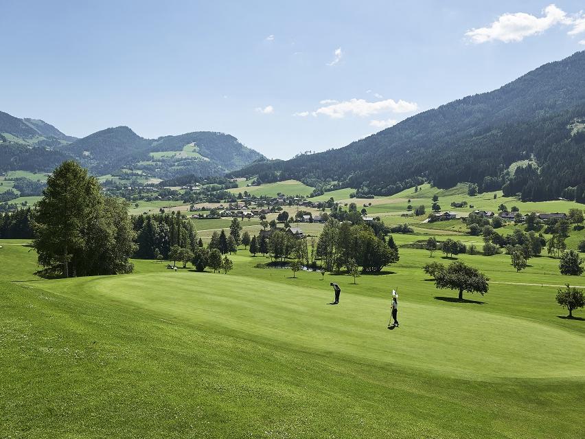 Landscape at Schloss Pichlarn in Austria