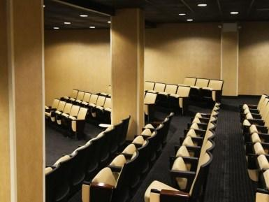 rows of seats in a theatre room