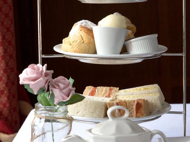 Afternoon tea at Barn Hotel Ruislip near London