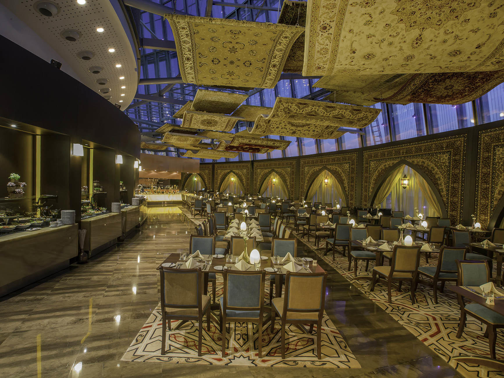 Flying Carpet Restaurant at The Torch Doha Hotel in Qatar