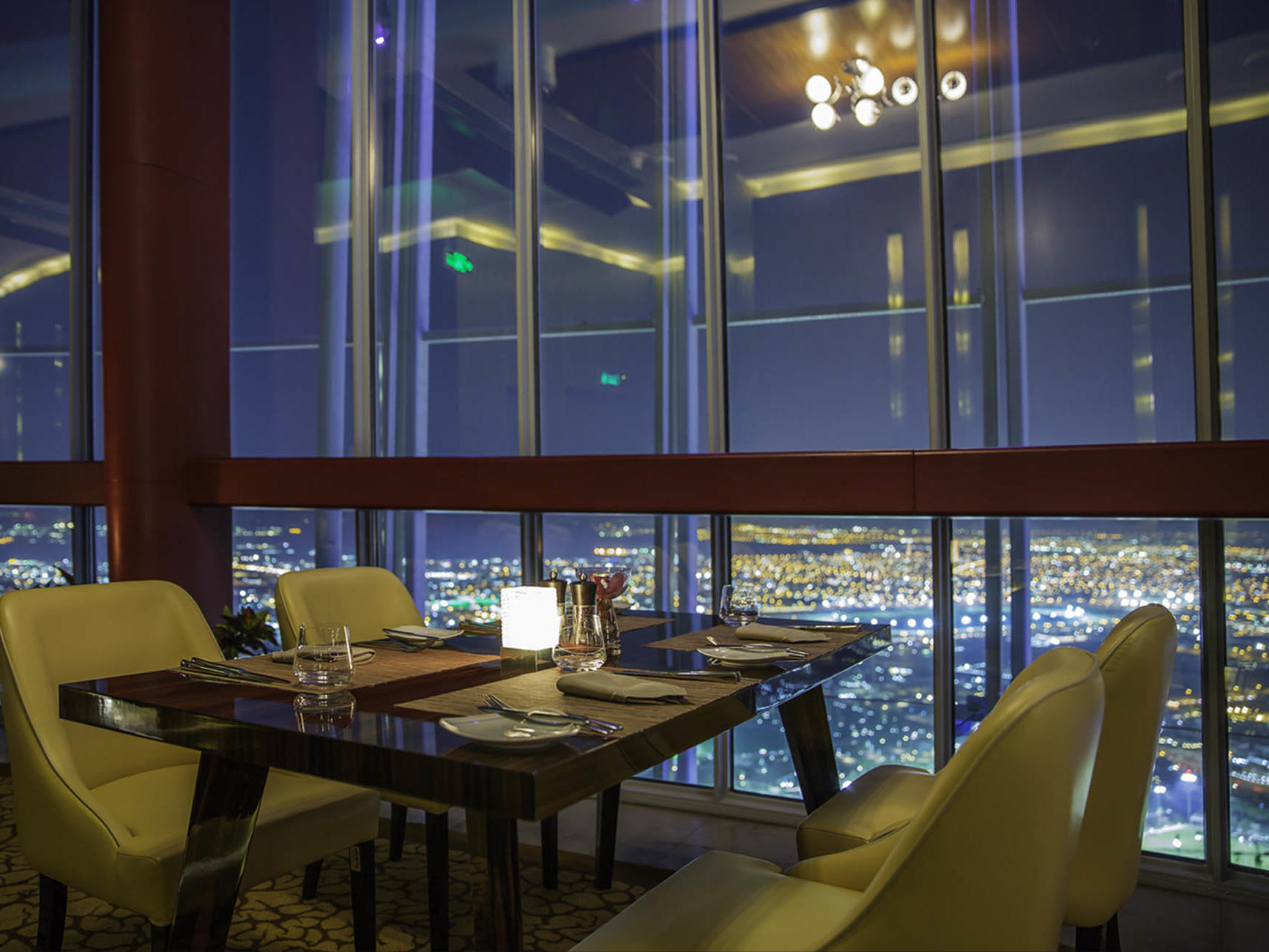 Three Sixty Restaurant at The Torch Doha Hotel in Qatar