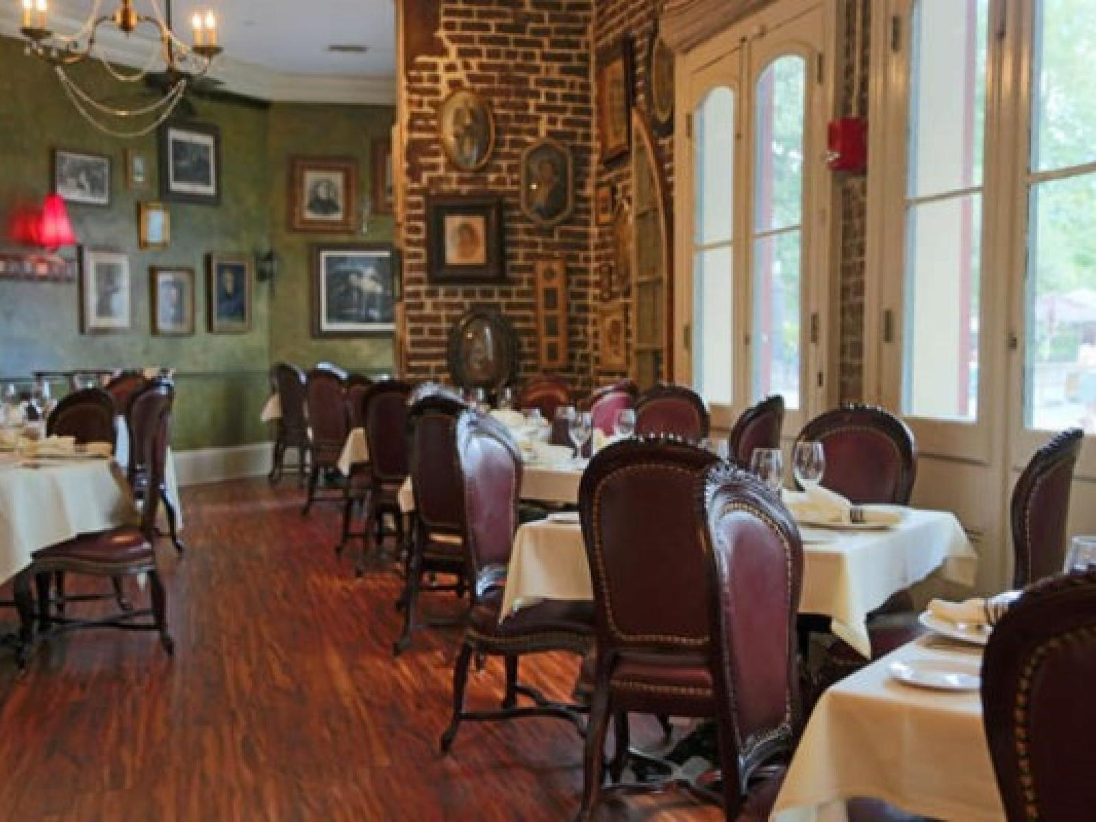 Dining area of Muriel's Jackson Square near Hotel St. Pierre