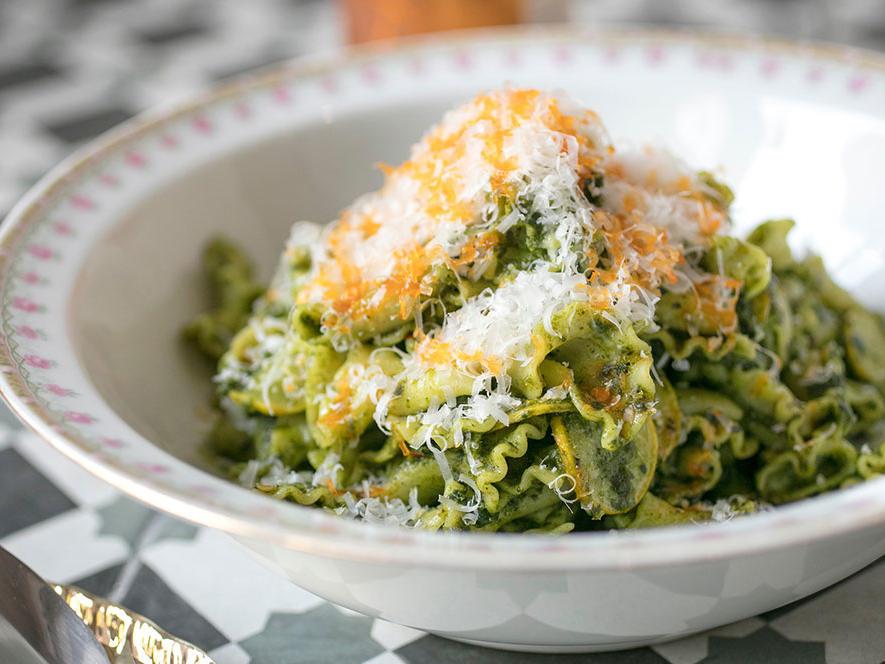 A pasta dish served at Gianna Restaurant near St. James Hotel