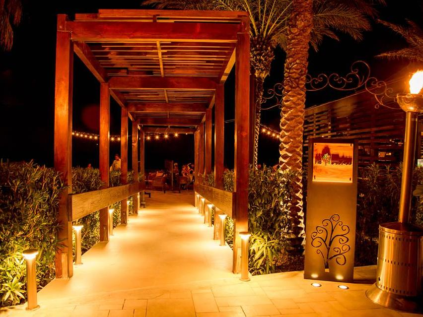 Walkway to the Restaurant
