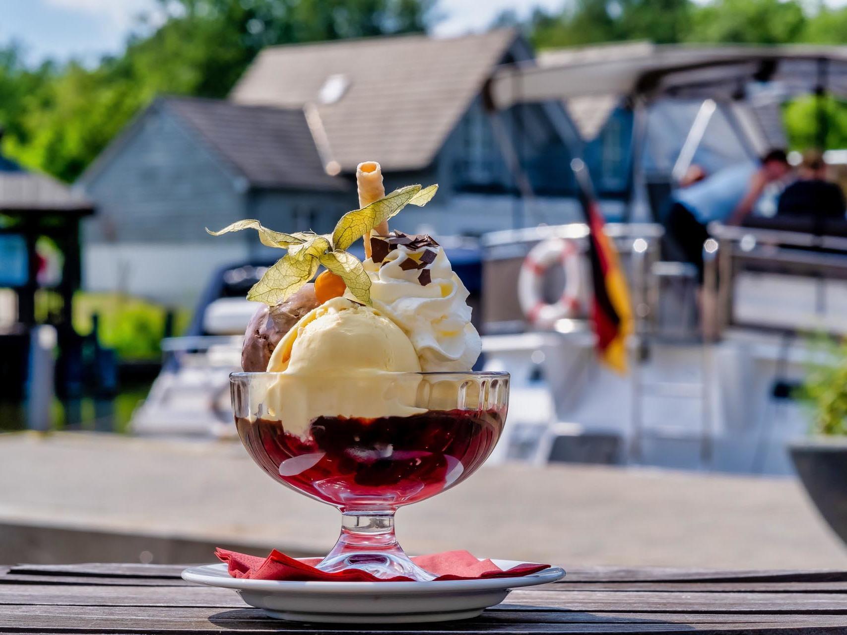 ice cream at Precise Resort Marina Wolfsbruch