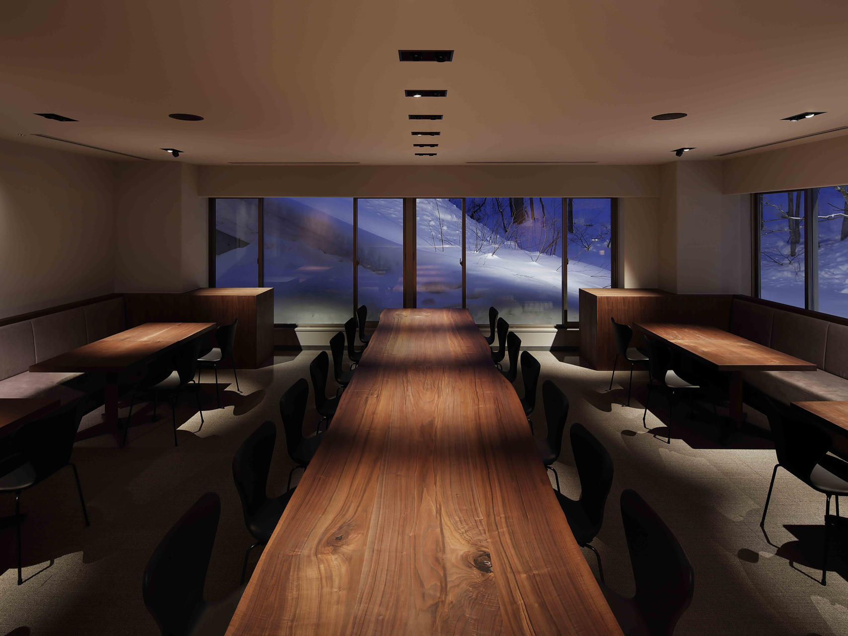 View of the Kitchen at Chatrium Niseko Japan