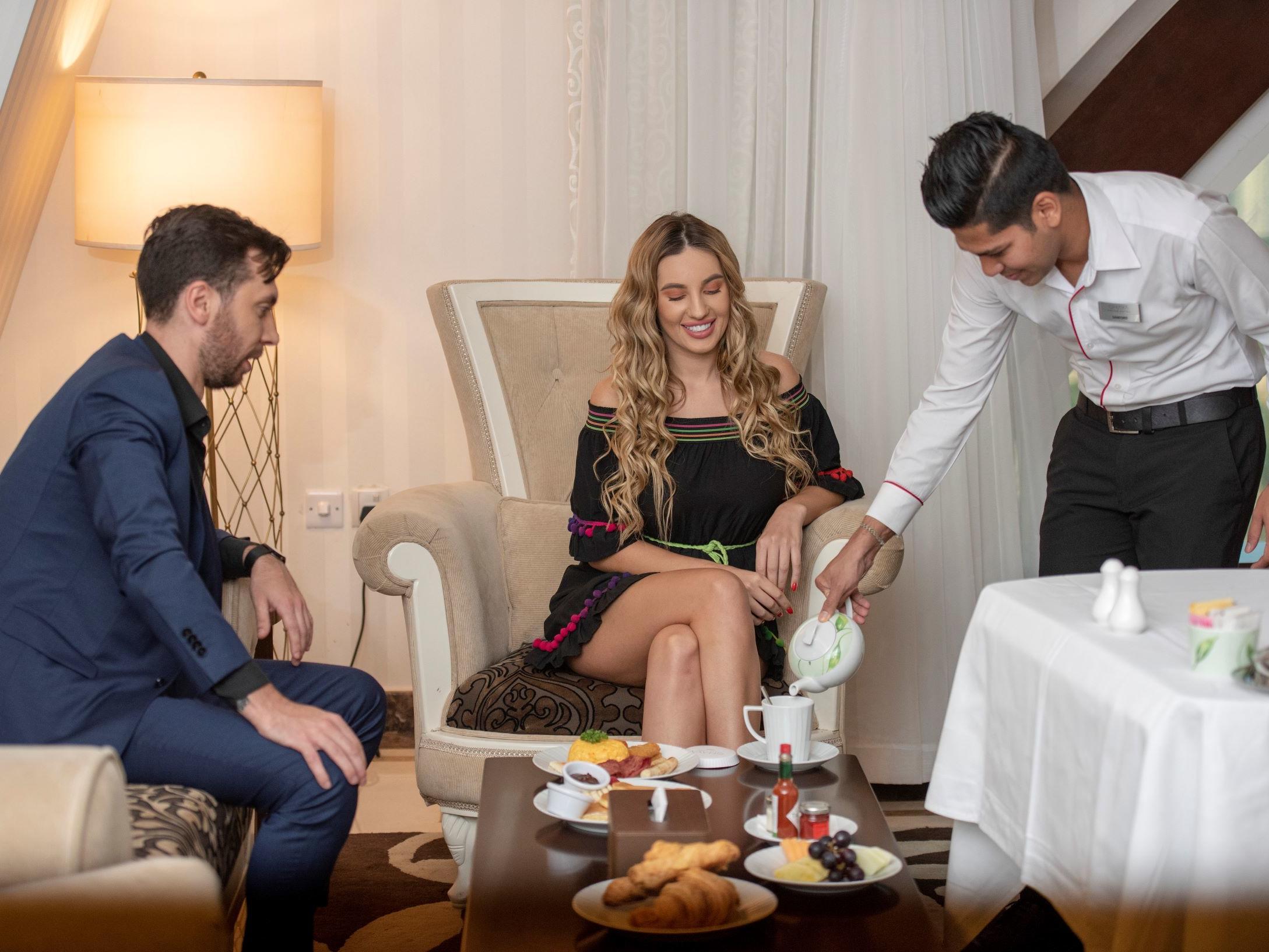 Ghaya Grand Hotel Dubai -Room Service Lifestyle Image 2