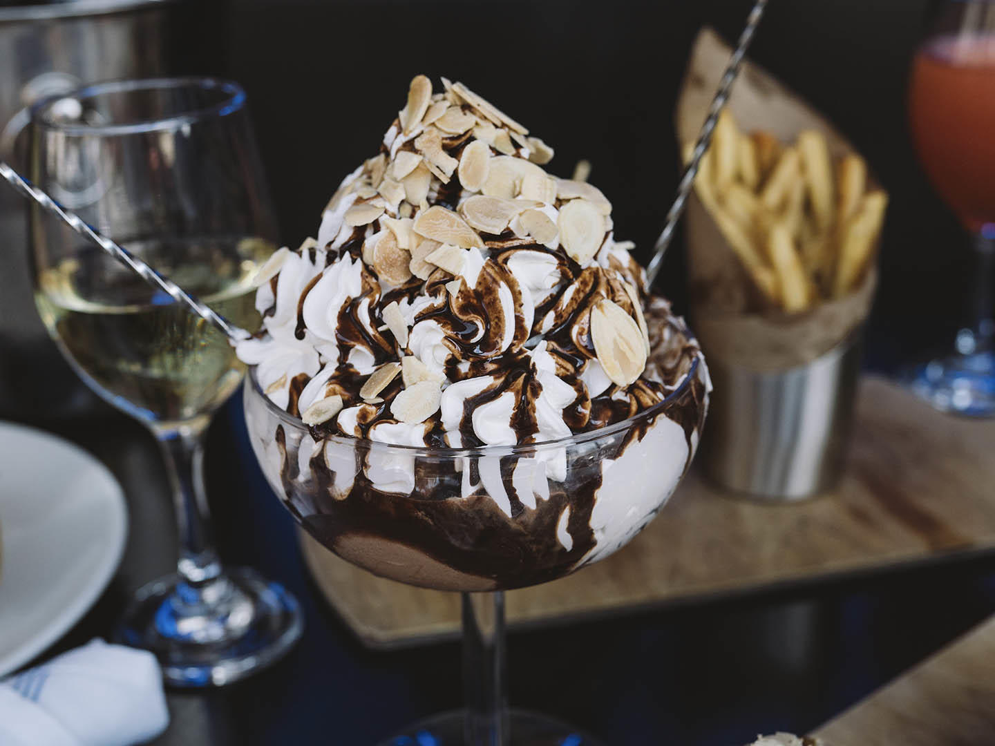 large ice cream sundae