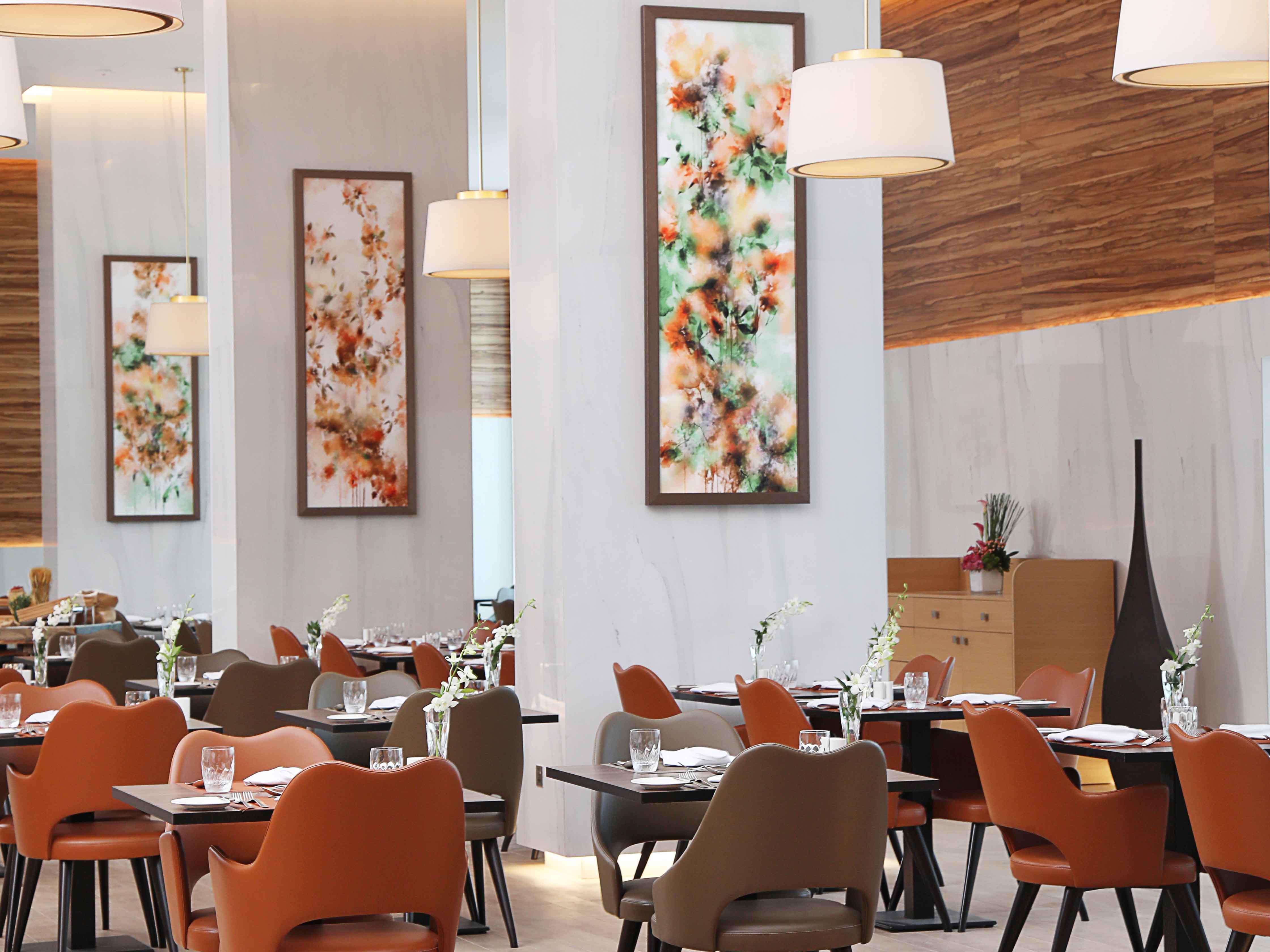 Gardenia Brasserie at Grand Cosmopolitan Hotel in Dubai