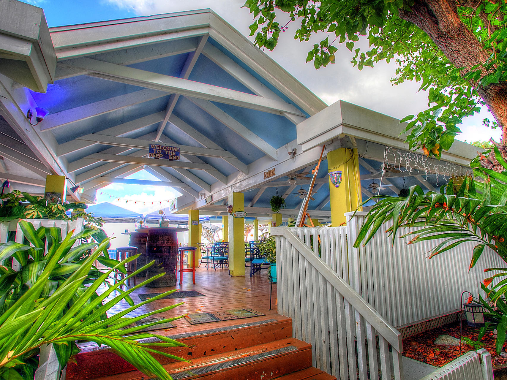 Deep End Bar Grill entrance at Tamarind Reef Resort