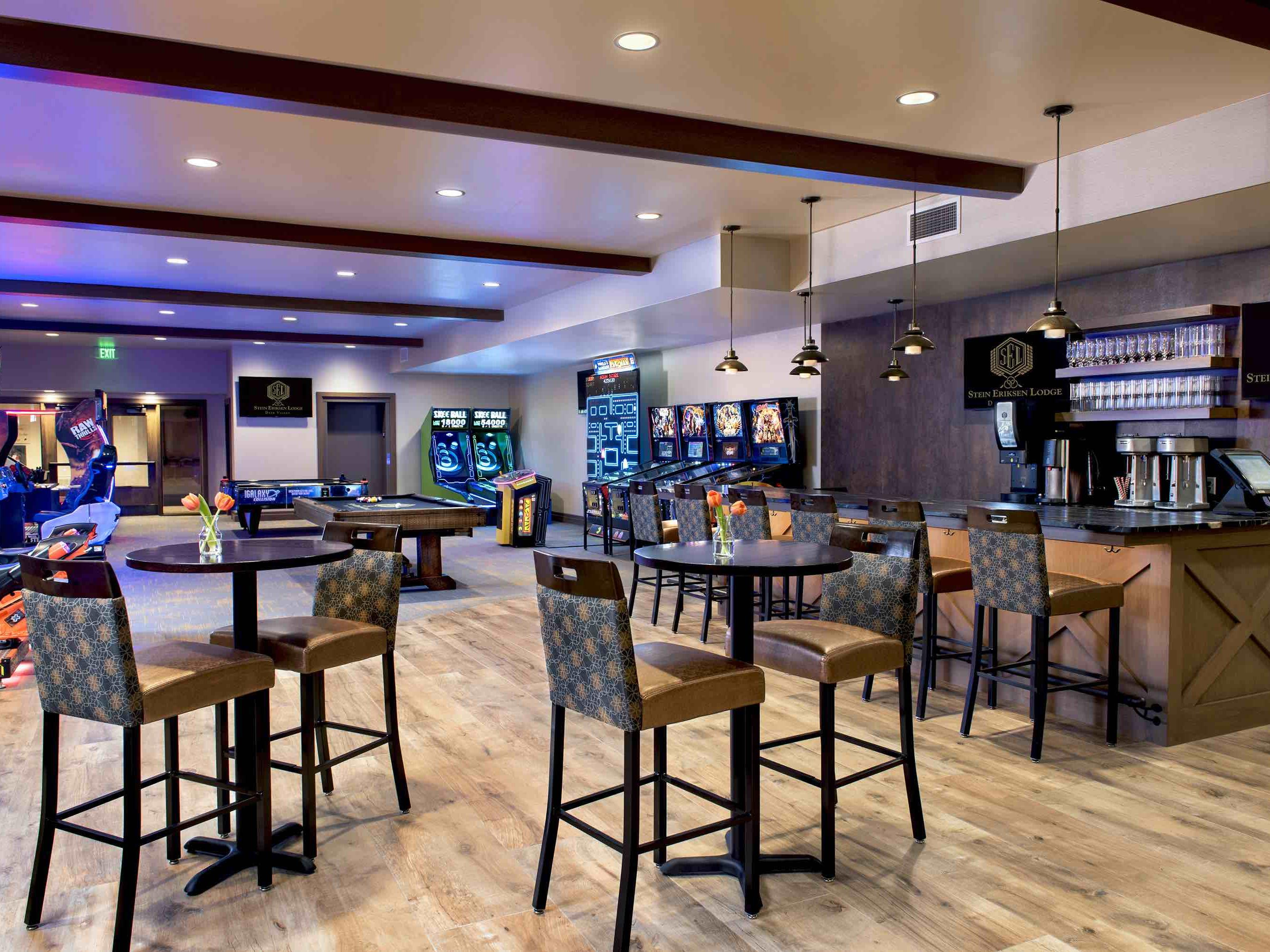Champions Club entertainment center game room
