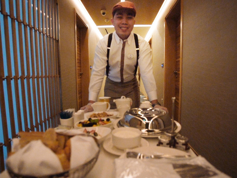 Room service at Grand Cosmopolitan Hotel in Dubai