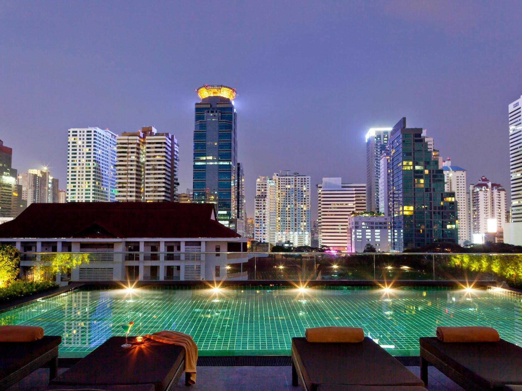 View of The Rooftop Pool Bar at Maitria Mode Sukhumvit 15
