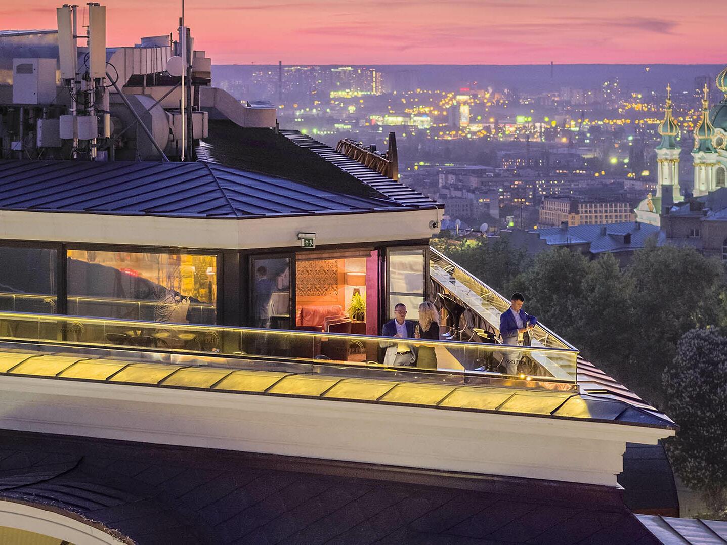 B-hush rooftop bar at Intercontinental Kyiv hotel