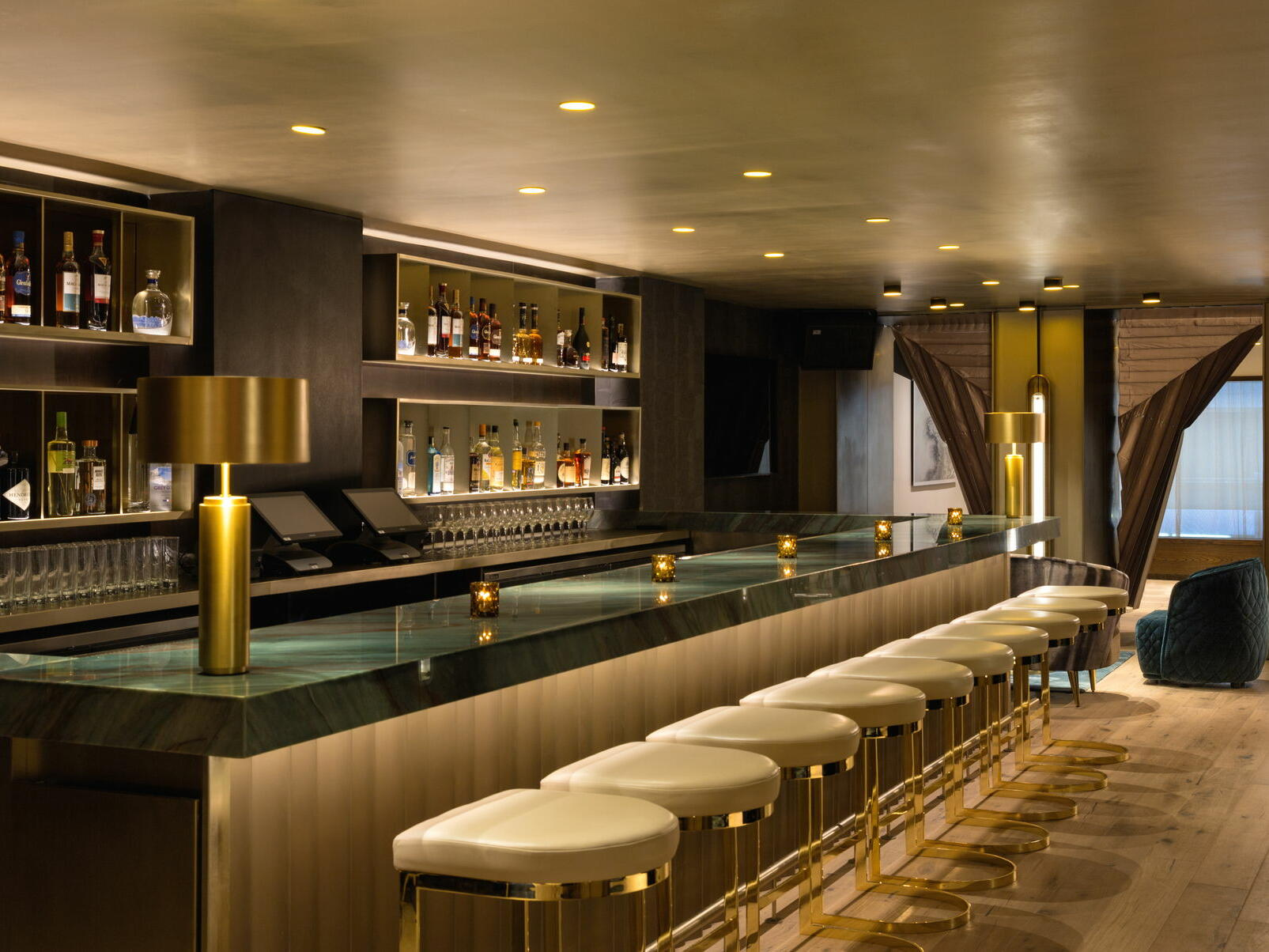 Bar & lounge area in LeGrande Lounge at The Time New York