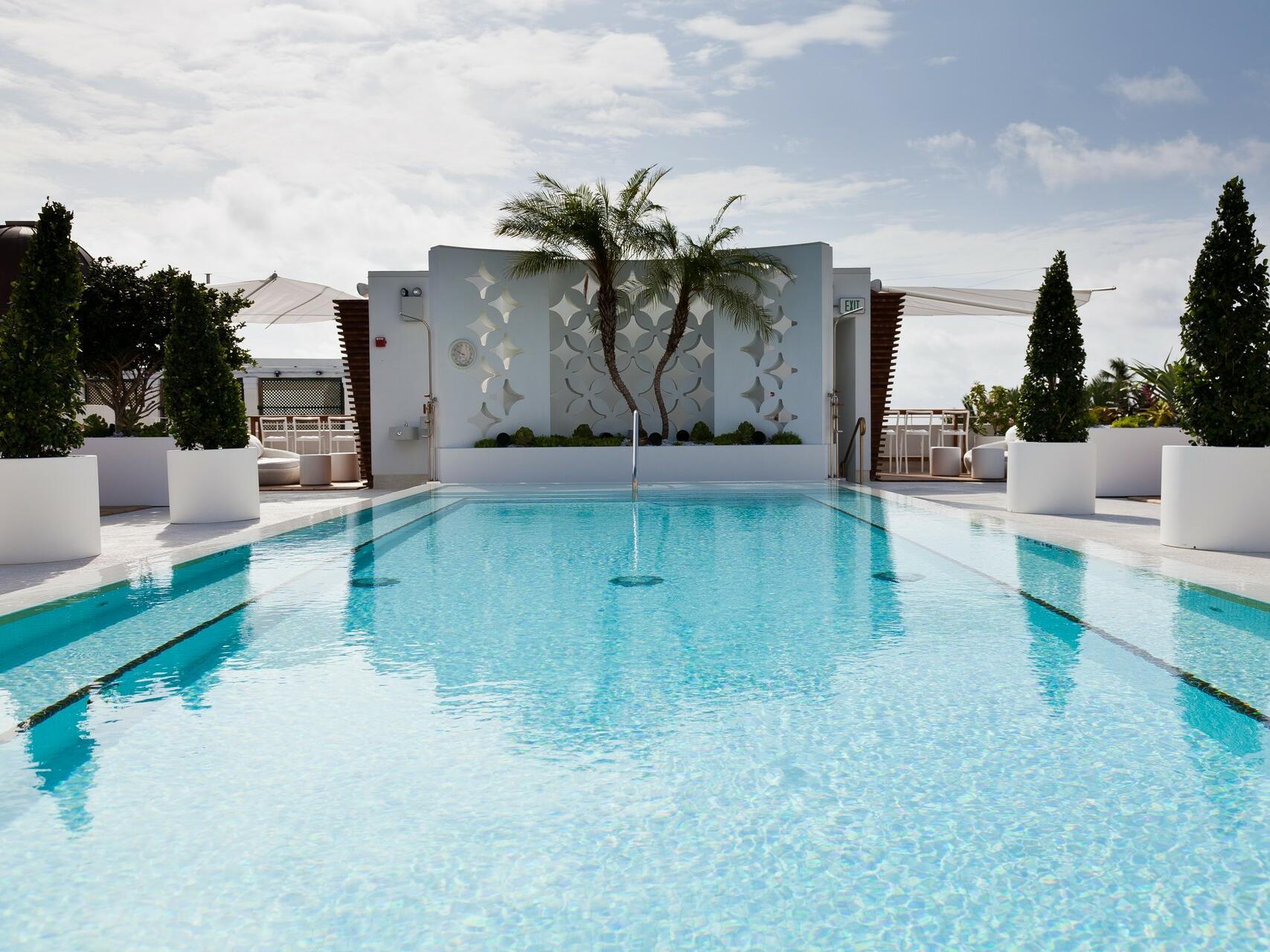 Rooftop Pool & 2 cabanas in Highbar at Dream South Beach