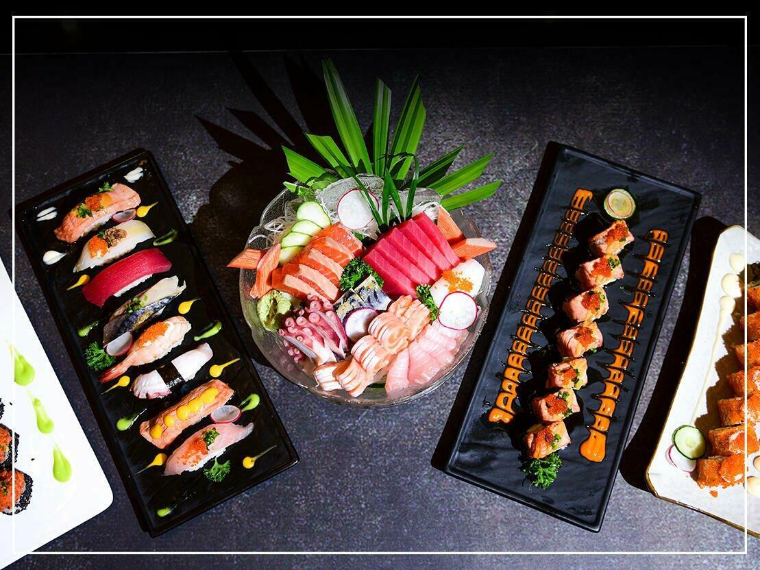 Sushi & Sashimi in Lobby Lounge at Chatrium Hotel Royal Lake
