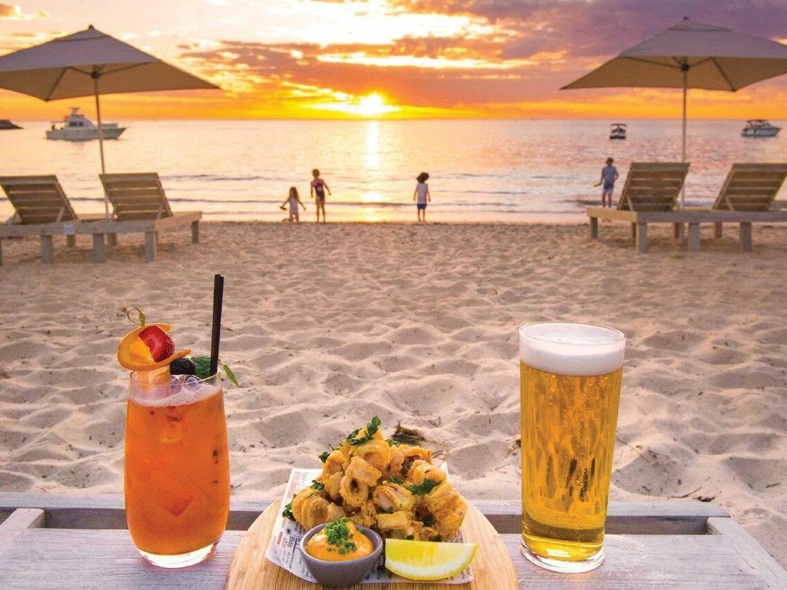 Food and drinks served at Bather Beach House near Be Fremantle