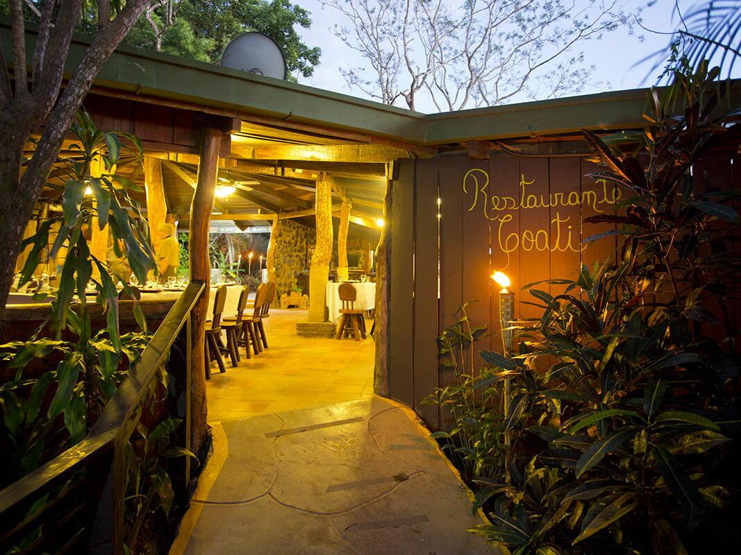 Diner with Lights at Night at Buena Vista Del Rincon