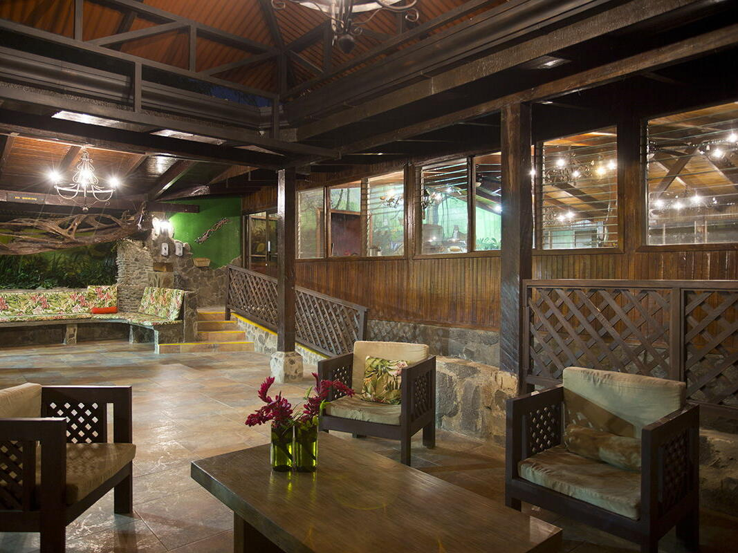 Diner with Wood Furniture and Lights at Buena Vista Del Rincon