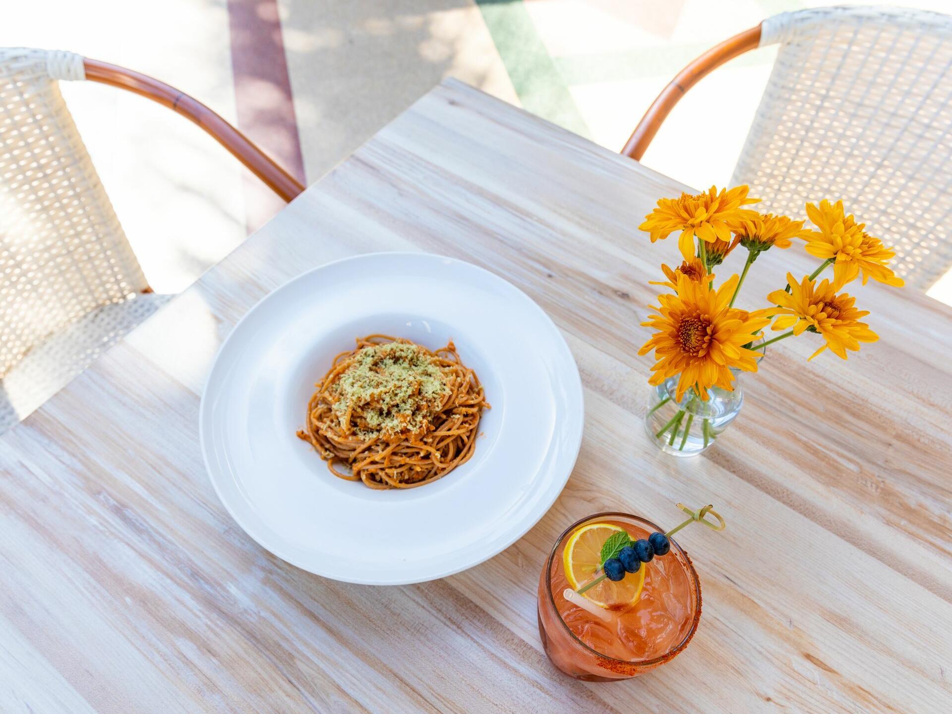View of Full Bloom Vegan at Crest Restaurant at Crest Hotel Suites