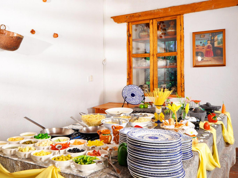 Appetizes presented in El Patio at Hacienda Cantalagua
