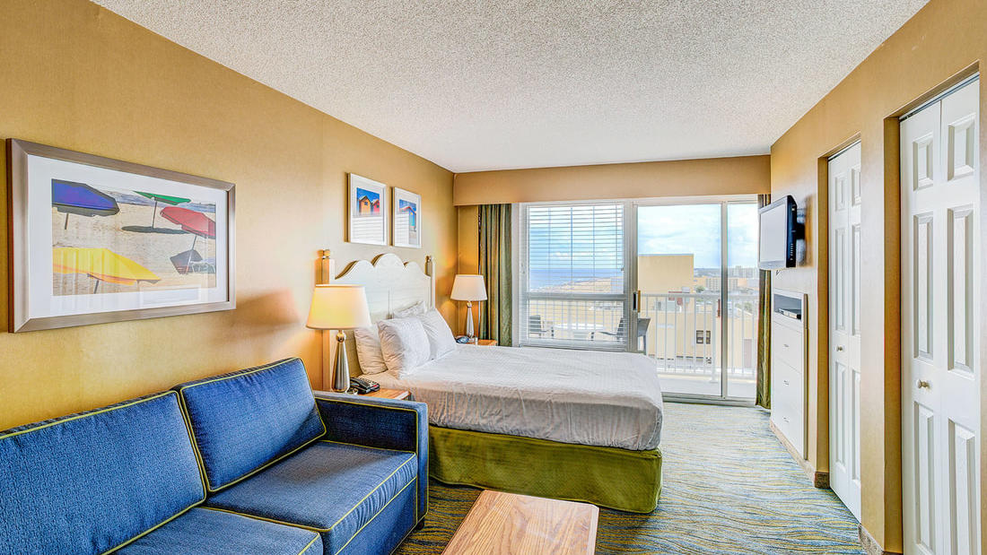One Bedroom Suite Ocean View Virginia Beach Hotel Rooms Boardwalk Resort