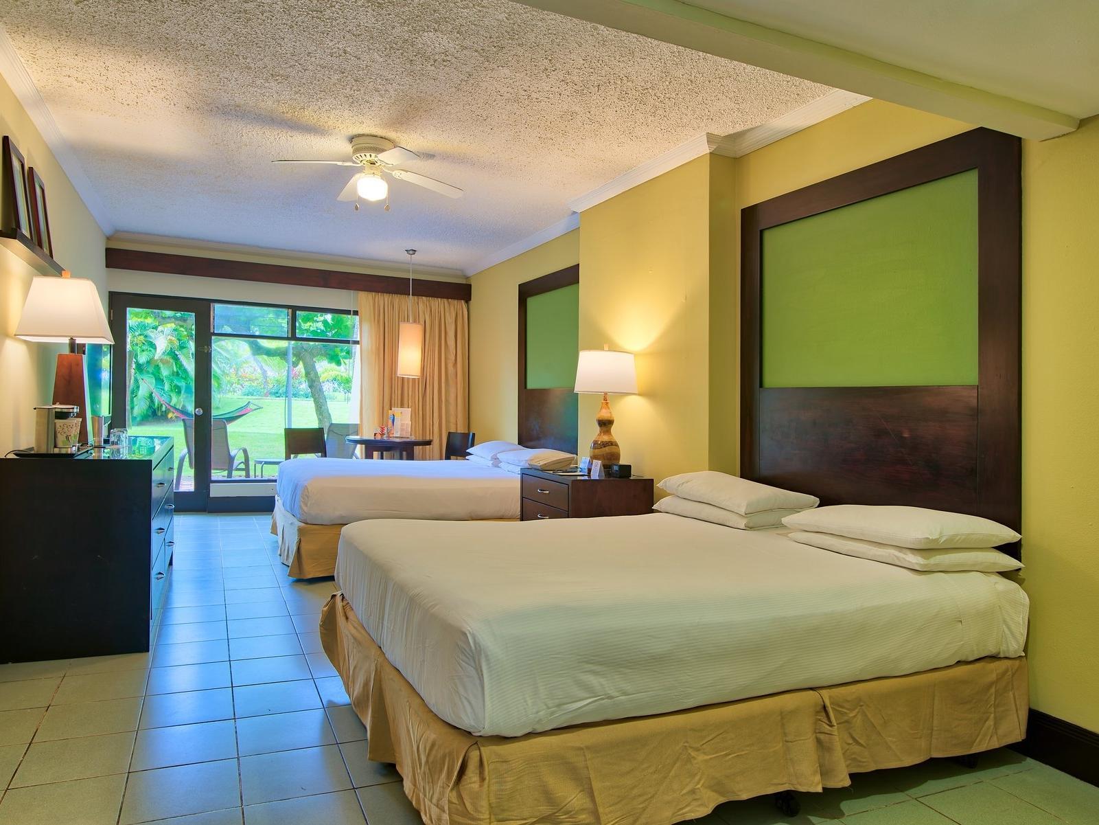 Fiesta 2 double beds with window view at fiesta resort
