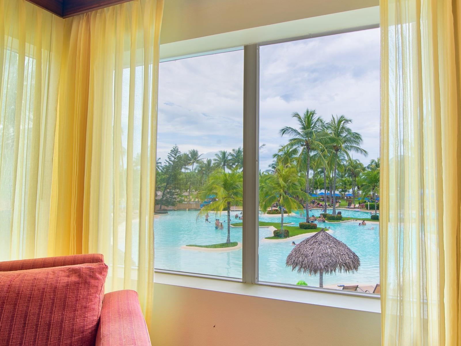 Jr suite pool view at fiesta Resort