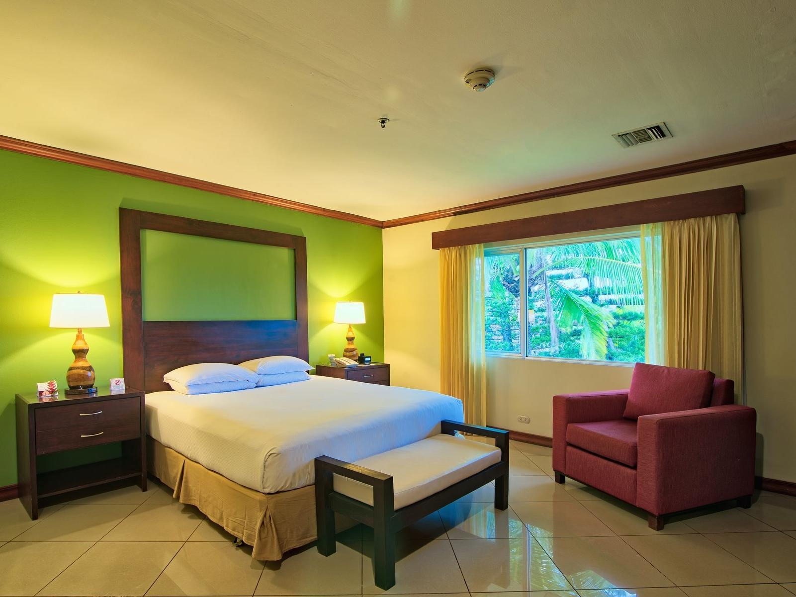 Long space fiesta presidential suite with window view at fiesta Resort