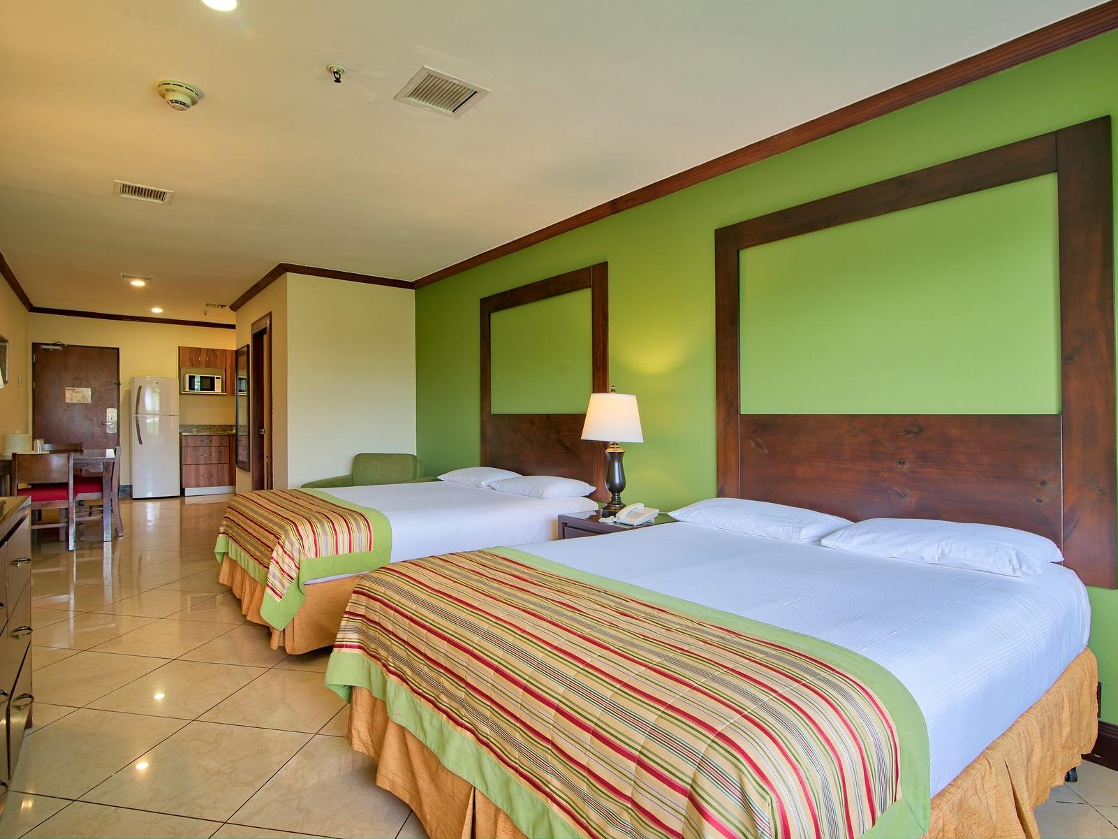 A View of family estudio with 2 queen beds at Fiesta Resort