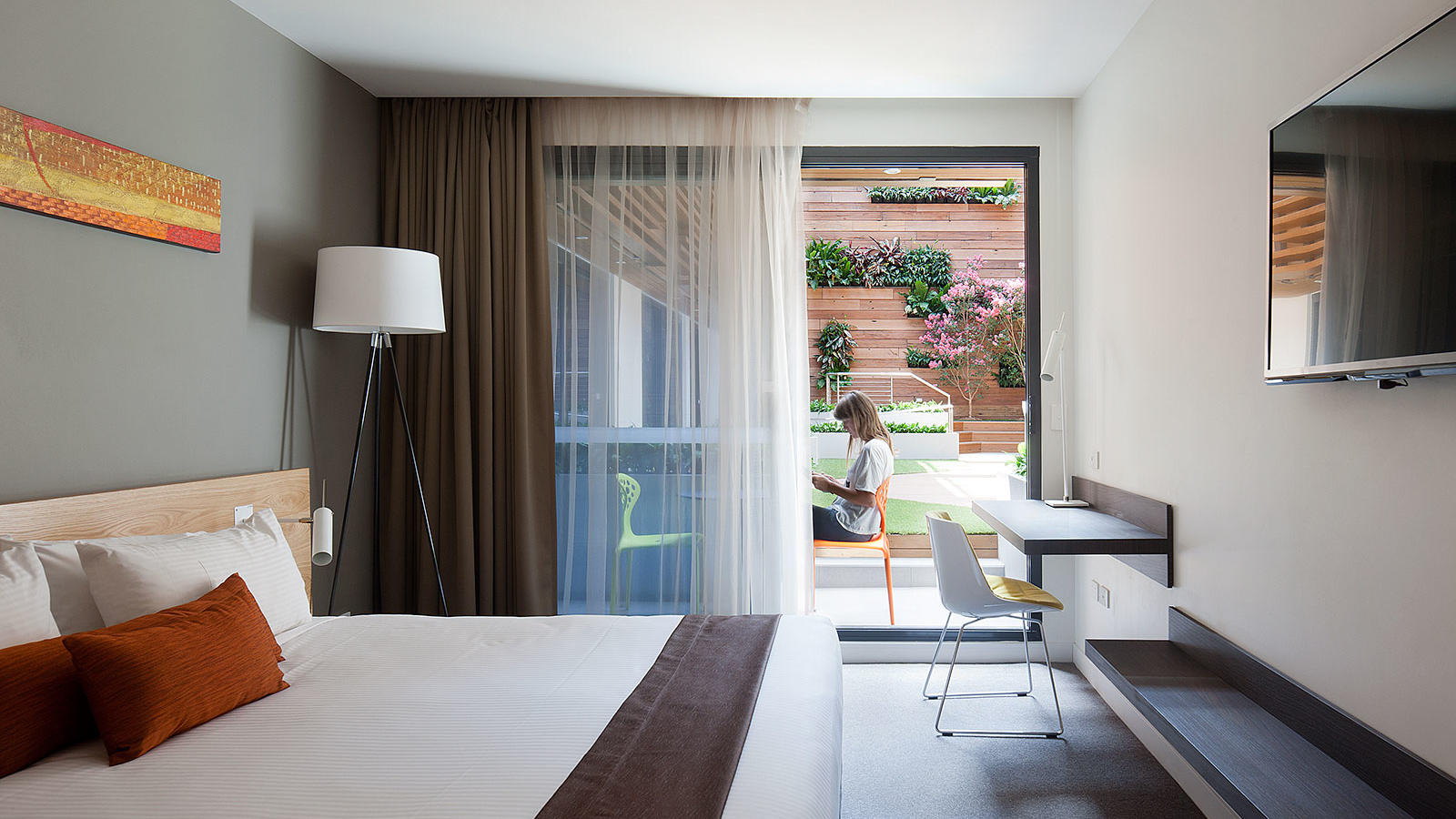 Premium Courtyard Access Room at Jasper Hotel Melbourne
