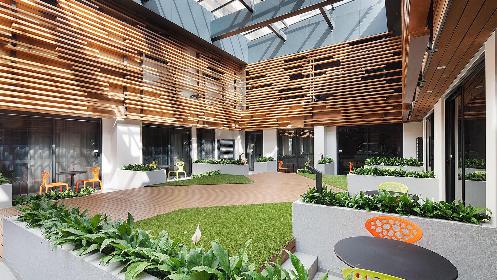 Courtyard at Jasper Hotel Melbourne