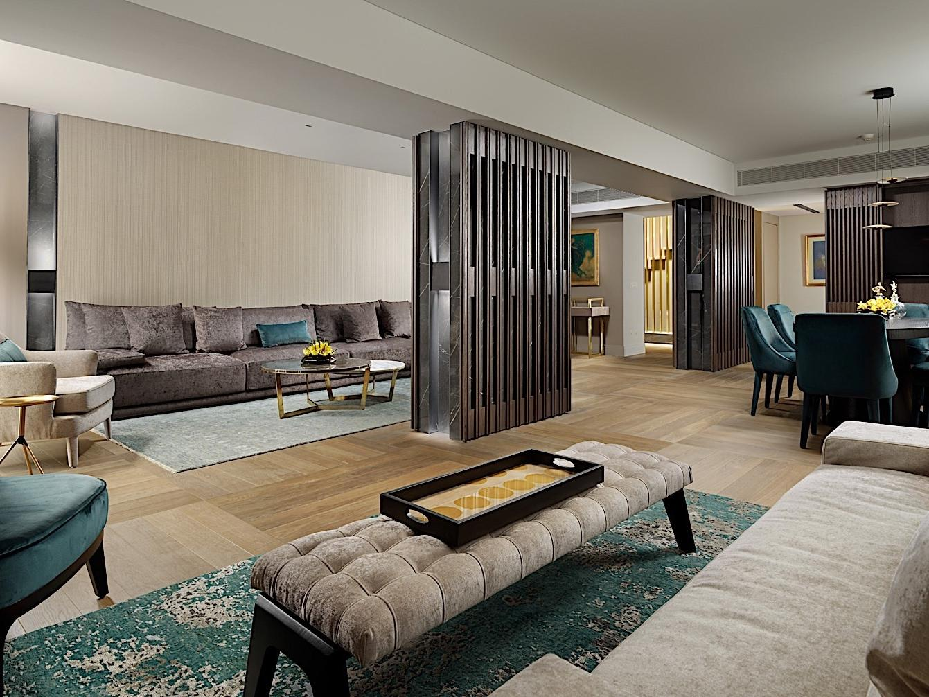 Living Room Presidential Suite NJV Athens Plaza