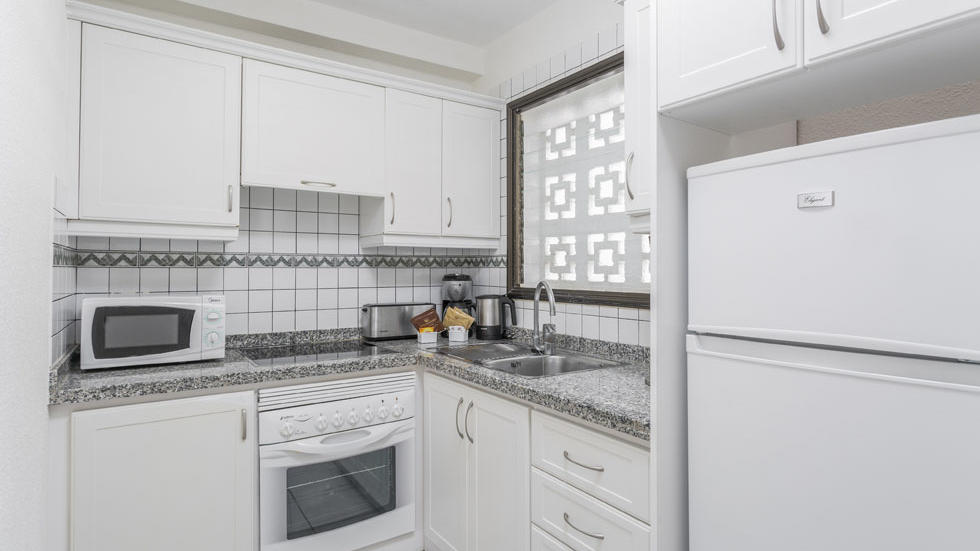 Two Bedroom Apartment Kitchen at Sunset Bay Club
