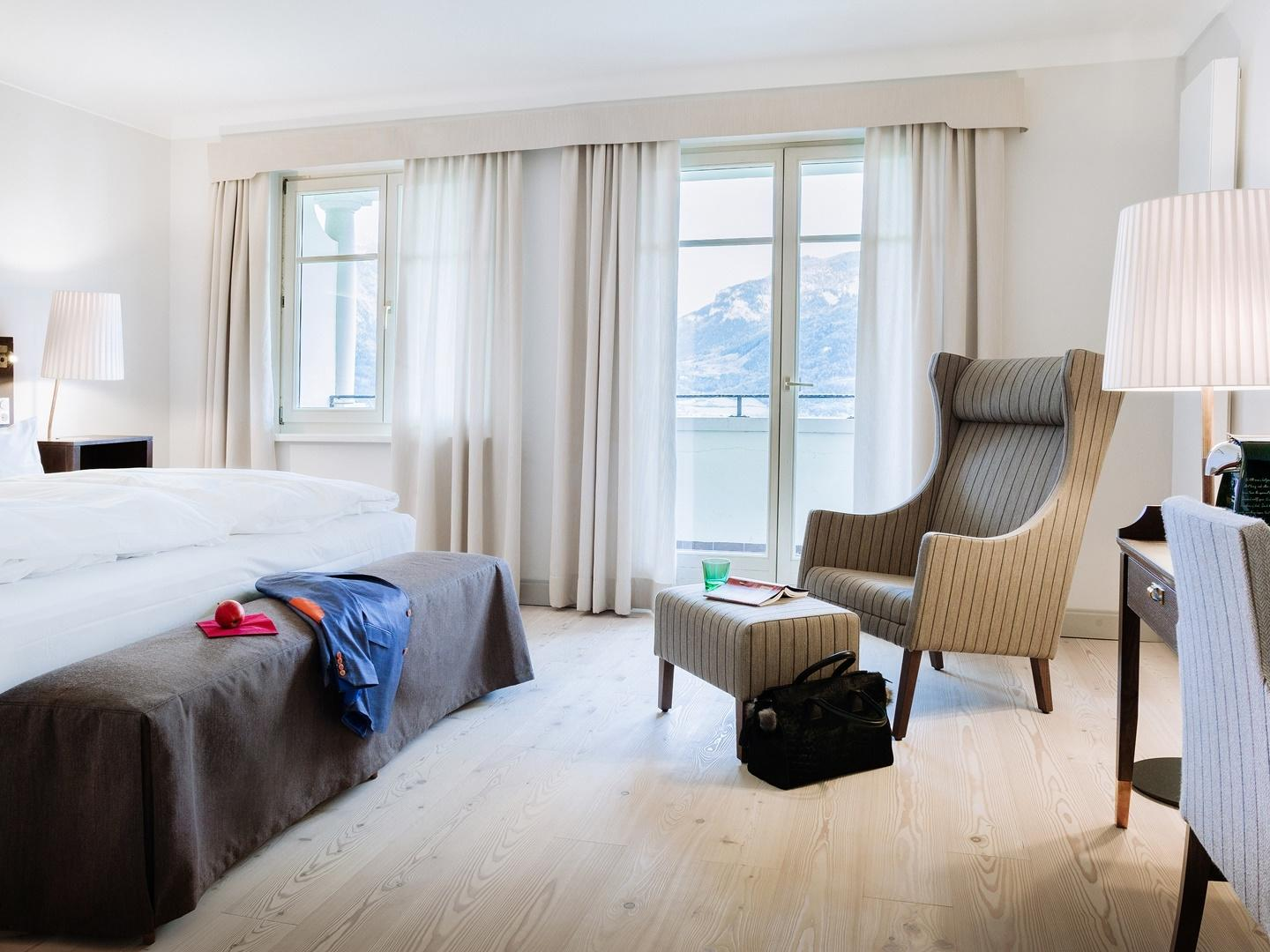 Deluxe Double Room with Balcony at Romantik Hotel Schloss Pichlarn
