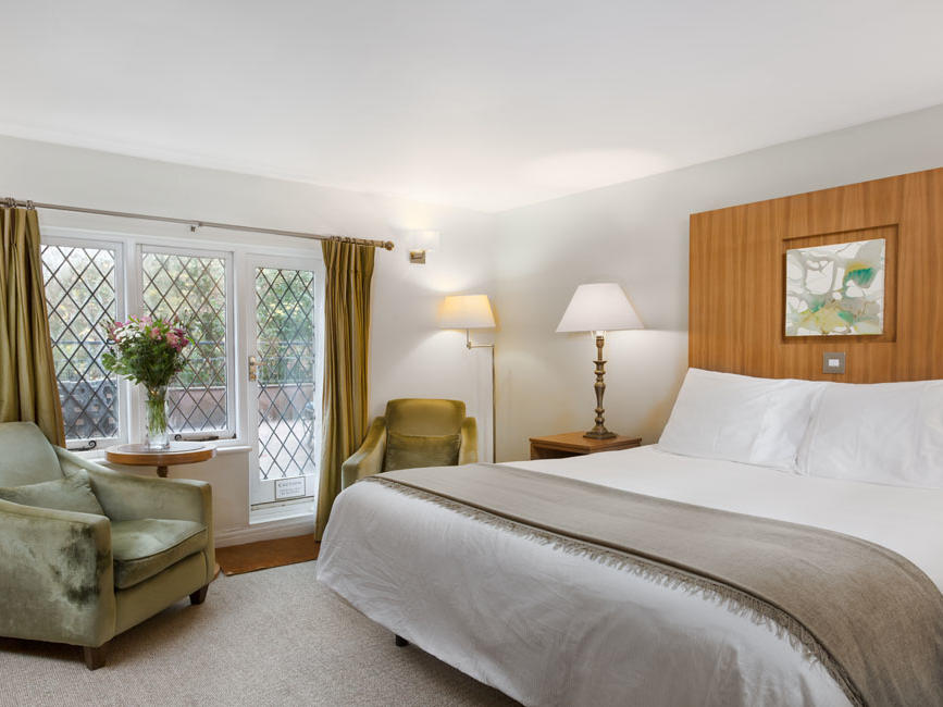 Double Room Bed at Woodford Bridge Country Club